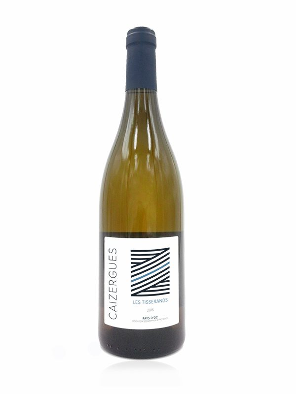 Bottle shot of Les Tisserands, A white wine made at Domaine Les Caizergues