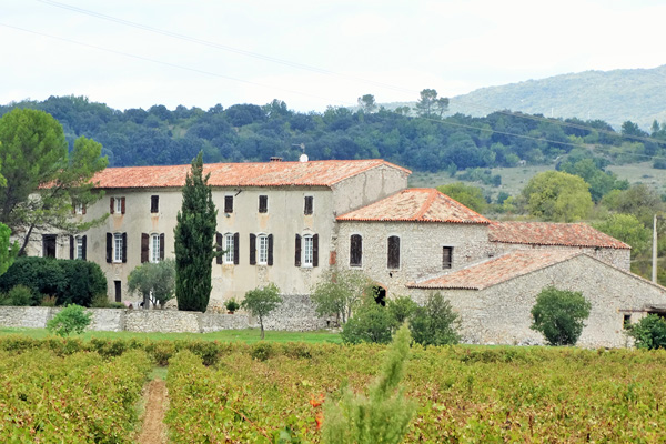 Shot of the Building in the Domaine Les Caizergues Vineyard